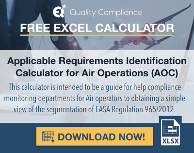 Applicable Requirements Identification Calculator for Air Operations (AOC) .002