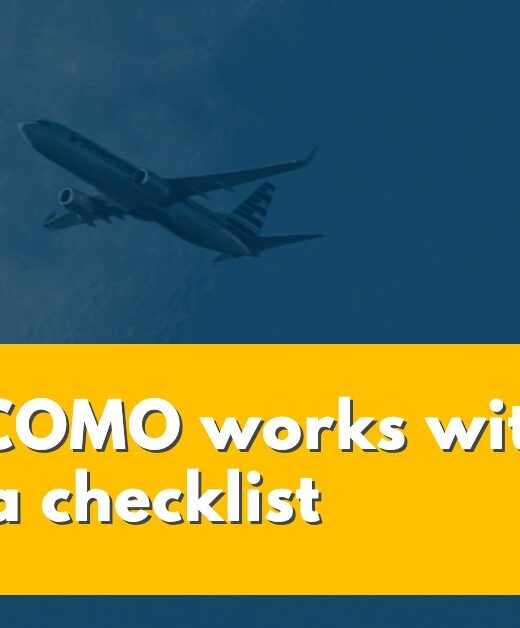 How SICOMO for air operators works with import a checklist